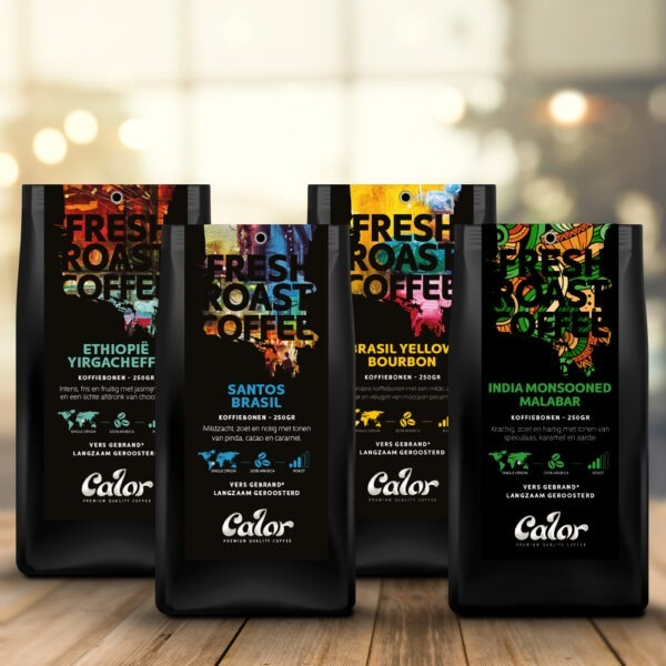 calor proefpakket 4x 250 gram single-origins